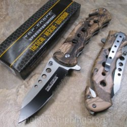 Tac Force Fall Camo Outdoor Assisted Opening Folding Knife 4.75-Inch Closed