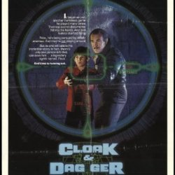 "Cloak & Dagger 1984 Original Movie Poster Action Comedy Crime Drama - Dimensions: 27"" X 41"""