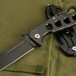Survival Camping Pocket Black Folding Knife S Wc274B-7.28''