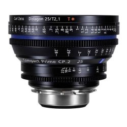 Zeiss Compact Prime Cp.2 25Mm/T2.1 T (Feet) Lens With Pl Bayonet Mount