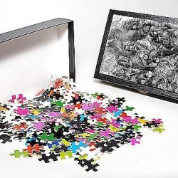 Photo Jigsaw Puzzle Of Ojibway And Potawatamie Native American Indians, 1856