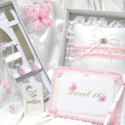 Sweet 16 Or Wedding Butterfly Guest Book And Reception Party Accessories