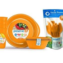 Preserve Everyday Tableware Set With Cutlery, Orange
