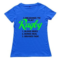 Goldfish Women'S Art Unique Rugby T-Shirt Royalblue Us Size Xl