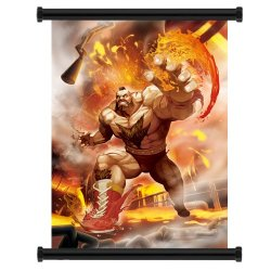 """Street Fighter X Tekken Zangief Game Fabric Wall Scroll Poster (16""""X22"""") Inches"""