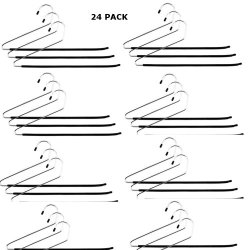 24 Pack Open Ended Pants Slack Closet Organizer Closet Hangers- Fights Creases!