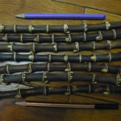 400Grams Of Black Bamboo Root Sticks For Making Bamboo Pipe Or Knife Handle Making
