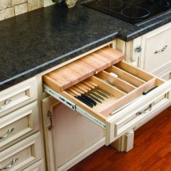 Rev-A-Shelf 4Kcb-24 Knife Holder And Cutting Board Drawer System - Wood - Maple