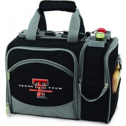 Texas Tech Red Raiders Malibu Insulated Picnic Shoulder Pack/Bag - Burgundy W/Embroidery