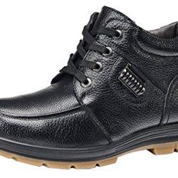 Index Coadse Leather Lace-Up Men'S Business Shoes(9 D(M)Us, Black)