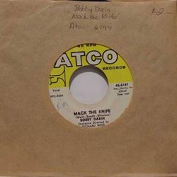 Bobby Darin Mack The Knife / Was There A Call For Me 45 Rpm Single