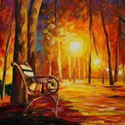 Lovely Light Art Wall Decorative Canvas Knife Paintng On Canvas 32X24In/80X60Cm Unframed