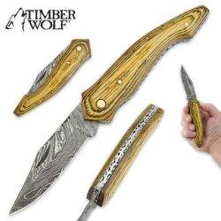 Timber Wolf Pineapple Pakkawood Folding Pocket Knife