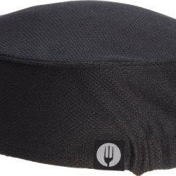 Chef Works Dfaow-Blk-0 Total Cool Vent Women'S Skull Cap Beanie, Black