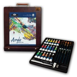 Royal & Langnickel Premier 32 Piece Acrylic Painting Easel Set