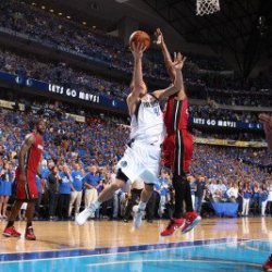 Miami Heat V Dallas Mavericks - Game Four, Dallas, Tx -June 7: Dirk Nowitzki And Udonis Haslem Photographic Poster Print By Nathaniel S. Butler, 8X12