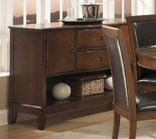 Image of Sideboard Server Bowed Front in Deep Cherry Finish (VF_HE1205-40)