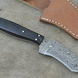 Christmas Gift By Leather-N-Dagger | Professional High Quality Custom Handmade Damascus Steel Tanto Hunting Knife (100% Satisfaction Guaranteed) Great Gift Ld179