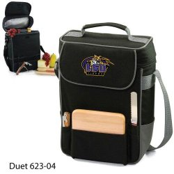 Lsu Fighting Tigers Duet Insulated Wine And Cheese Tote - Black W/Digital Print