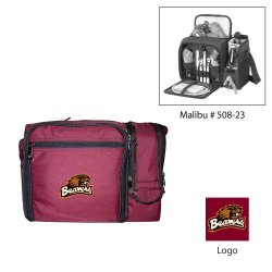 Oregon State Beavers Malibu Insulated Picnic Shoulder Pack/Bag - Burgundy W/Embroidery