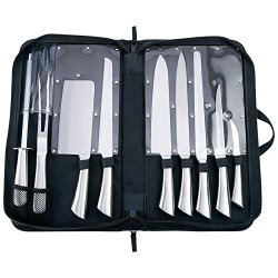 10Pc Professional Surgical Stainless Steel Kitchen Knife Cutlery Set