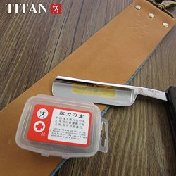 Pk® Titan Razor Wax For Canvas Leather Sharpening Strop Straight Razor Knife Shaving Shave