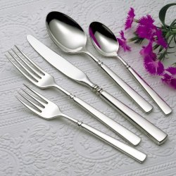 Oneida Easton 26-Piece Stainless Flatware Set, Service For 4 With Wooden Drawer Organizer/Caddy