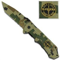 Rangers Lead The Way Camouflage Folding Pocket Knife