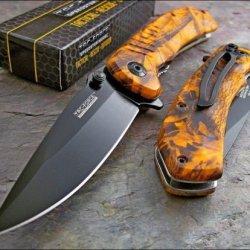 Tac-Force Orange Camo Speedster Knife Brand New!!!