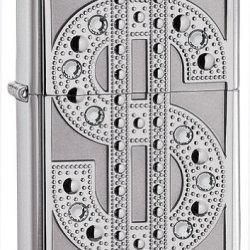 Zippo Bling Emblem High Polish Chrome Lighter