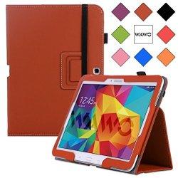 Wawo Samsung Galaxy Tab 4 10.1 Inch Tablet Smart Cover Creative Folio Case - Brown