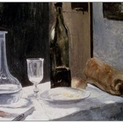 "Rikki Knighttm Claude Monet Art Still Life With Bottles And Knives Design On 10"" X 8"" High Definition Museum Quality Almunimum Print - Metal Art Print - With Floating Block Wall Hangers (Proudly Made In The Usa)"