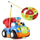 Cartoon R/C Construction Car Radio Control Toy for Toddlers (Blue)