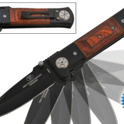 """Pu-1110-Bpk 9 Inch Trigger Mrozkw Assisted Rrfba9Bm Tiger-Usa """"Steroid Steel"""" Knife Folding Knife Edge Sharp Steel Ytkbio Tikos567 Bgf Steel On Steroids! These Exclusive Tiger-Usa Heavy-Duty 9-Inch Beauties Weigh In At Almost Half A Pound. Wrap Your Finge"""