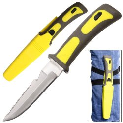 Yellowtail Drop Point Diving Swimming Scuba Knife
