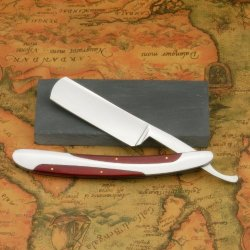 Vintage Design Widen Blade Cut Throat Wood Handle Heavy Straight Razor Natural Water Hone Sharpen Stone Gift Set Shaving Kit