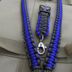 Blue Thunder Paracord Lanyard
