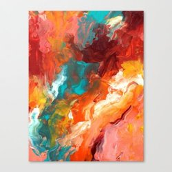 Society6 - Palette Knife Paiting Ii Canvas Print By Liz Moran