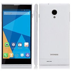 Doogee Dagger Dg550 5.5''Ips Screen Mtk6592 Octa-Core 1.6Ghz Android 4.2 1Gb/16Gb Dual Sim Dual Standby 3G Smartphone 5.0Mp/13.0Mp Dual Cameras Wifi Bluetooth Gps(White)