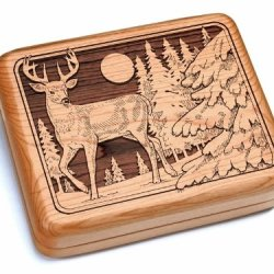 "5X6"" Box With Double Pocket Knives - Deer"