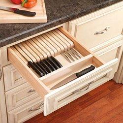 Rev-A-Shelf Rev-A-Shelf Wood Knife Block Insert, Brown, Wood