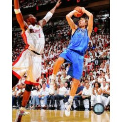 Dirk Nowitzki Game 6 Of The 2011 Nba Finals Action Glossy Photograph