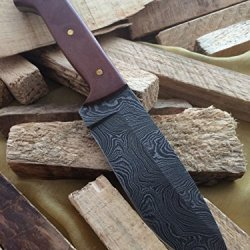 Massive Sale!!!! Knife King Custom Damascus Handmade Hunting Knife. With Leather Sheath. Top Quality