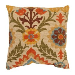 Pillow Perfect Santa Maria 16.5-Inch Throw Pillow, Adobe