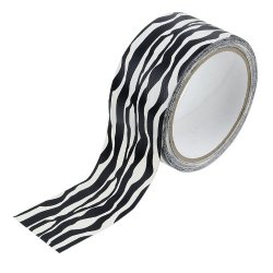 Black And White Zebra Print Duct Tape - 10 Yards