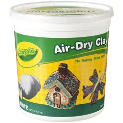 Crayola Air Dry Clay 5 Lb Bucket, White, (57-5055)