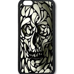 Huahui Skull Cute Hot Selling Top Quality Special Design Fire Flowers Motobike Guitar Cell Phone Cases For Iphone 6 No.11