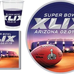 Super Bowl Xlix Tableware Party Kit For 24 Guests