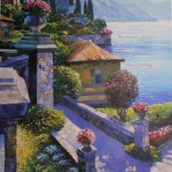 Howard Behrens World Of Sunlight Eternal Varenna Puzzle 1000 Pieces