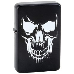 Standout Lighters Exclusive Lighters Black Lighter W/ White Skull Incomparable